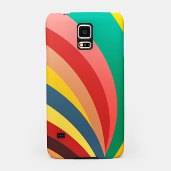 Miniaturka Colorful stripes, rainbow print Samsung Case, Live Heroes