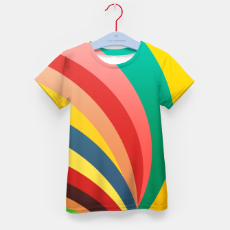 Miniaturka Colorful stripes, rainbow print Kid's t-shirt, Live Heroes