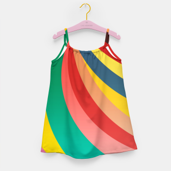 Miniaturka Colorful stripes, rainbow print Girl's dress, Live Heroes
