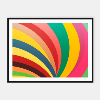 Miniaturka Colorful stripes, rainbow print Framed poster, Live Heroes
