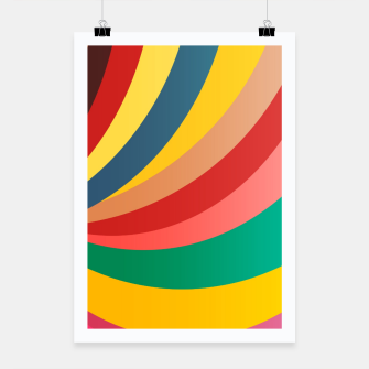 Miniaturka Colorful stripes, rainbow print Poster, Live Heroes
