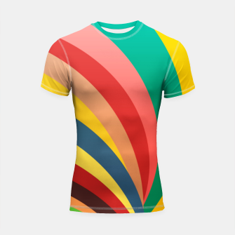 Miniaturka Colorful stripes, rainbow print Shortsleeve rashguard, Live Heroes