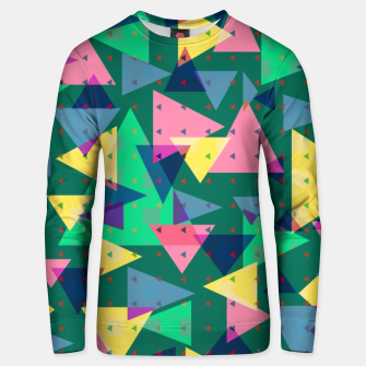 Triangles, my favorite geometric shapes  Unisex sweater miniature