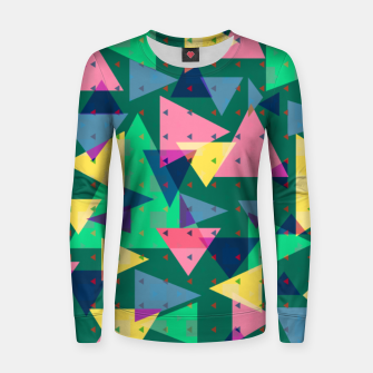 Triangles, my favorite geometric shapes  Women sweater miniature