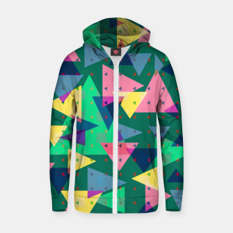 Triangles, my favorite geometric shapes  Zip up hoodie miniature