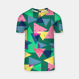 Triangles, my favorite geometric shapes  T-shirt miniature
