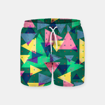 Triangles, my favorite geometric shapes  Swim Shorts miniature