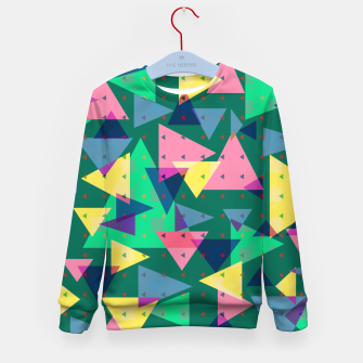 Triangles, my favorite geometric shapes  Kid's sweater miniature