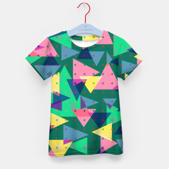 Triangles, my favorite geometric shapes  Kid's t-shirt miniature