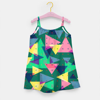 Triangles, my favorite geometric shapes  Girl's dress miniature