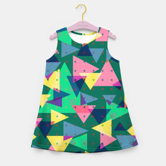 Triangles, my favorite geometric shapes  Girl's summer dress miniature