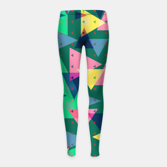 Thumbnail image of Triangles, my favorite geometric shapes  Girl's leggings, Live Heroes