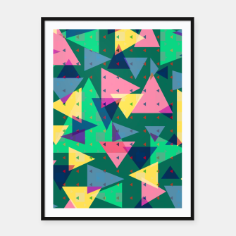 Triangles, my favorite geometric shapes  Framed poster miniature