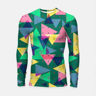 Triangles, my favorite geometric shapes  Longsleeve rashguard  miniature