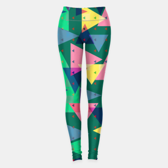 Thumbnail image of Triangles, my favorite geometric shapes  Leggings, Live Heroes