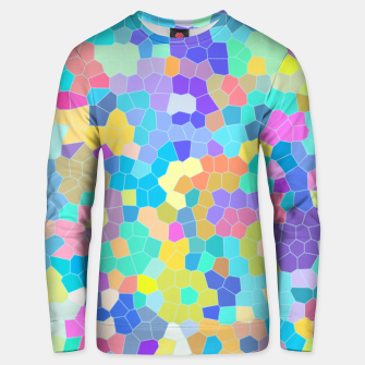 Miniatur Stained glass print, colorful crystal shapes Unisex sweater, Live Heroes