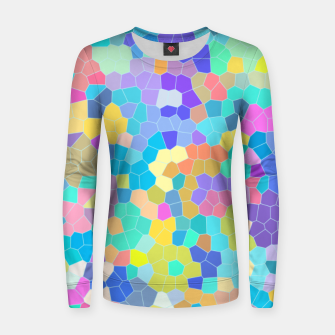 Miniaturka Stained glass print, colorful crystal shapes Women sweater, Live Heroes