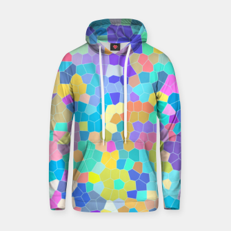 Miniatur Stained glass print, colorful crystal shapes Hoodie, Live Heroes