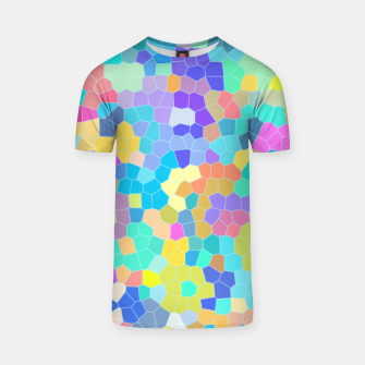 Miniatur Stained glass print, colorful crystal shapes T-shirt, Live Heroes