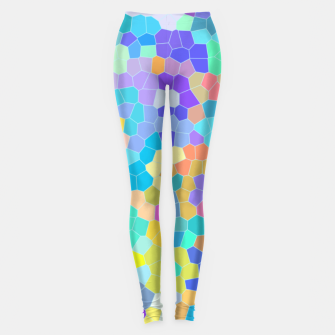 Miniatur Stained glass print, colorful crystal shapes Leggings, Live Heroes