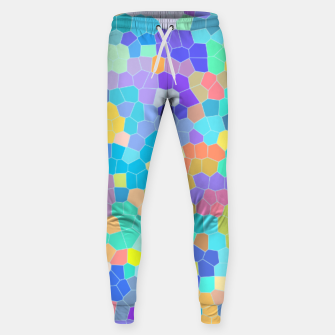 Miniatur Stained glass print, colorful crystal shapes Sweatpants, Live Heroes