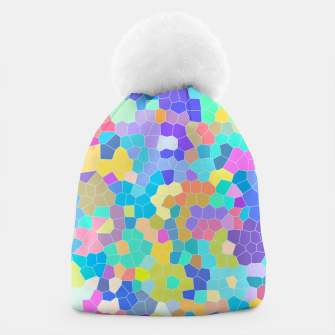 Miniaturka Stained glass print, colorful crystal shapes Beanie, Live Heroes