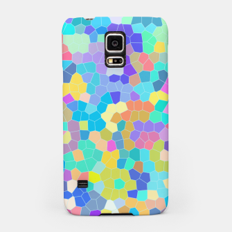 Miniatur Stained glass print, colorful crystal shapes Samsung Case, Live Heroes
