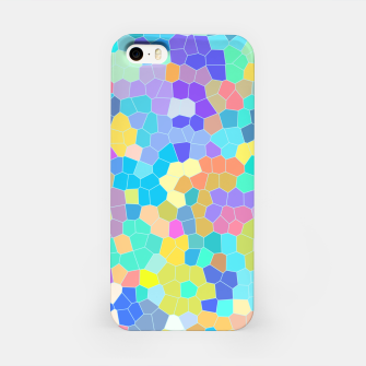 Miniatur Stained glass print, colorful crystal shapes iPhone Case, Live Heroes