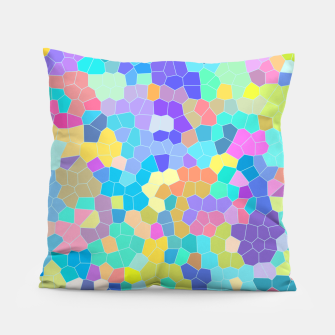 Miniatur Stained glass print, colorful crystal shapes Pillow, Live Heroes