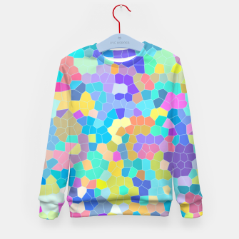 Miniatur Stained glass print, colorful crystal shapes Kid's sweater, Live Heroes