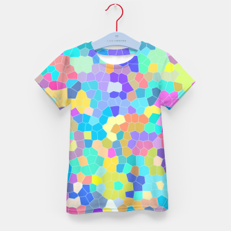 Miniatur Stained glass print, colorful crystal shapes Kid's t-shirt, Live Heroes