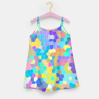 Miniatur Stained glass print, colorful crystal shapes Girl's dress, Live Heroes
