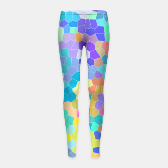 Miniatur Stained glass print, colorful crystal shapes Girl's leggings, Live Heroes