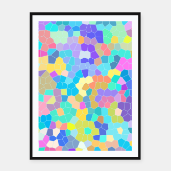 Miniatur Stained glass print, colorful crystal shapes Framed poster, Live Heroes