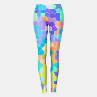 Miniaturka Stained glass print, colorful crystal shapes Leggings, Live Heroes