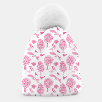 Miniatur A Girl Reading in the Garden (White and Pink) Beanie, Live Heroes