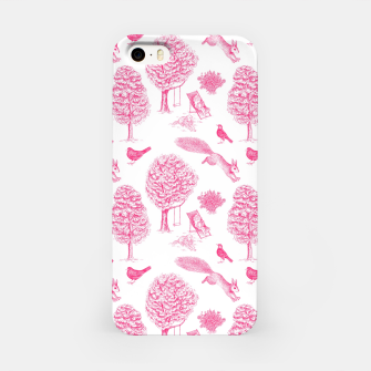 Miniatur A Girl Reading in the Garden (White and Pink) iPhone Case, Live Heroes