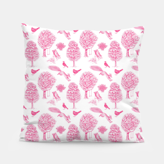 Miniatur A Girl Reading in the Garden (White and Pink) Pillow, Live Heroes