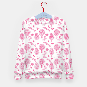 Miniatur A Girl Reading in the Garden (White and Pink) Kid's sweater, Live Heroes