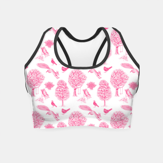 Miniatur A Girl Reading in the Garden (White and Pink) Crop Top, Live Heroes