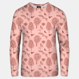 Miniatur A Girl Reading in the Garden (Pink and Maroon) Unisex sweater, Live Heroes