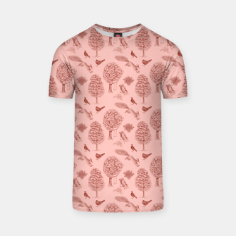 Thumbnail image of A Girl Reading in the Garden (Pink and Maroon) T-shirt, Live Heroes