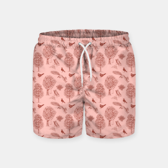 Thumbnail image of A Girl Reading in the Garden (Pink and Maroon) Swim Shorts, Live Heroes