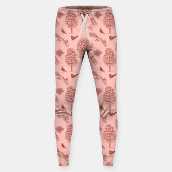 Thumbnail image of A Girl Reading in the Garden (Pink and Maroon) Sweatpants, Live Heroes