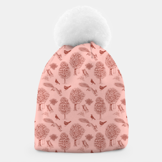 Miniatur A Girl Reading in the Garden (Pink and Maroon) Beanie, Live Heroes