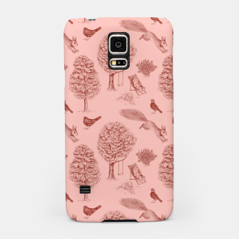 Miniatur A Girl Reading in the Garden (Pink and Maroon) Samsung Case, Live Heroes
