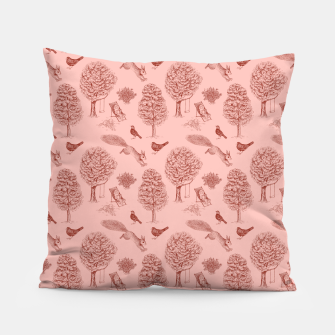 Thumbnail image of A Girl Reading in the Garden (Pink and Maroon) Pillow, Live Heroes