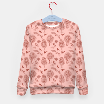 Thumbnail image of A Girl Reading in the Garden (Pink and Maroon) Kid's sweater, Live Heroes
