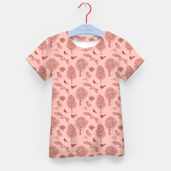 Miniatur A Girl Reading in the Garden (Pink and Maroon) Kid's t-shirt, Live Heroes