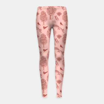Miniatur A Girl Reading in the Garden (Pink and Maroon) Girl's leggings, Live Heroes
